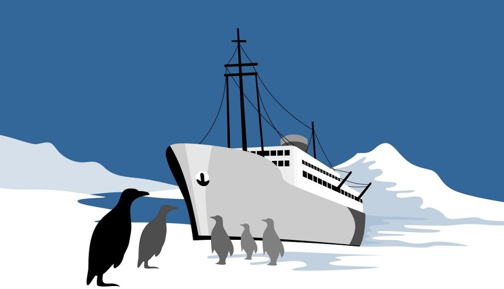 don't get left on the ice - do your seo properly and don't game the system - image of boat on ice