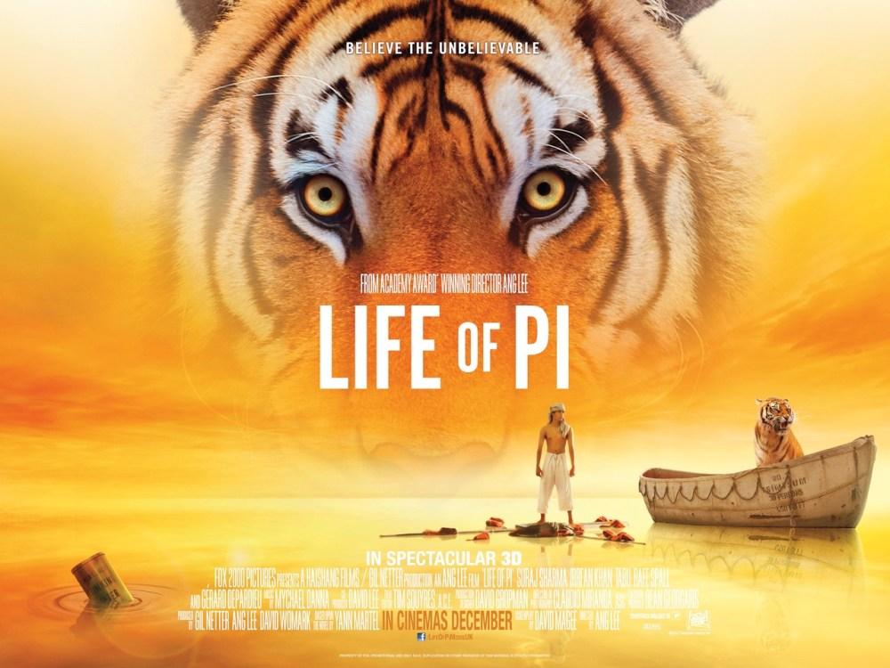 """Explicación sobre la película """"The Life of Pi"""" o"""