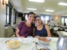 Daina and her sister Carolina at lunch