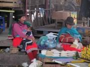 Indigenous women of Otavalo at Ferria Libre Mercado.