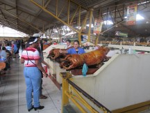 Mercado de Gualaceo, roasted pork food court style! Chet was in heaven.