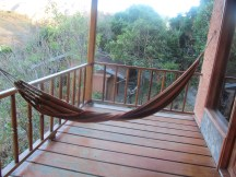 The veranda of our cabana had this very restful hammock