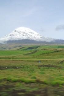 snow capped Chimborazo an inactive volcano
