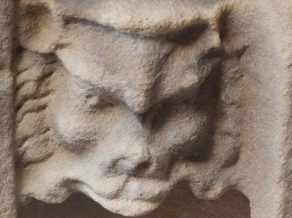 Stone head - Rufford Abbey