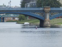 Rowing under Trent Bridge