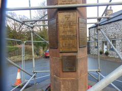 W H Wilson on Slaidburn War Memorial