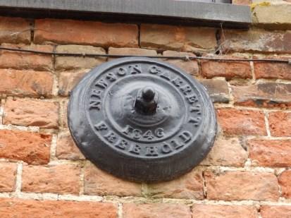 Patress plate - Snape Maltings
