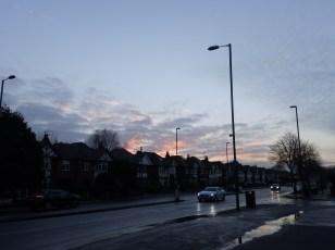 Sunset over Wollaton Road, Nottingham