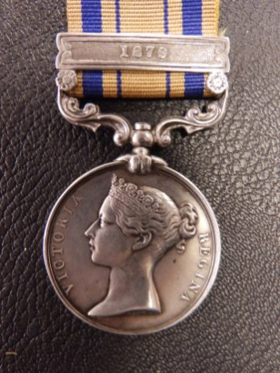 South Africa medal with 1879 bar for the Zulu war