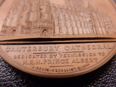 Canterbury Cathedral 1840s - detail of medallist