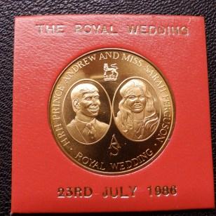 Royal Wedding medallion