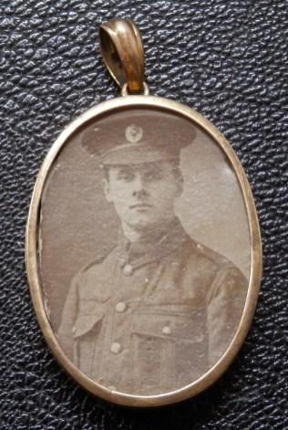 Locket WW1 RE Soldier