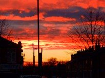 Sunset over Basford, Nottingham