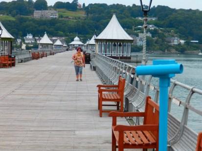 Bangor Pier - that woman seems to be following me