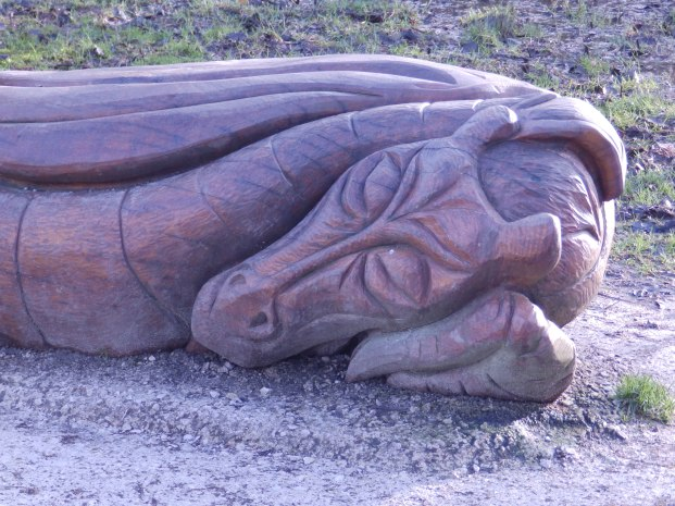 Wooden Dragon at Carsington