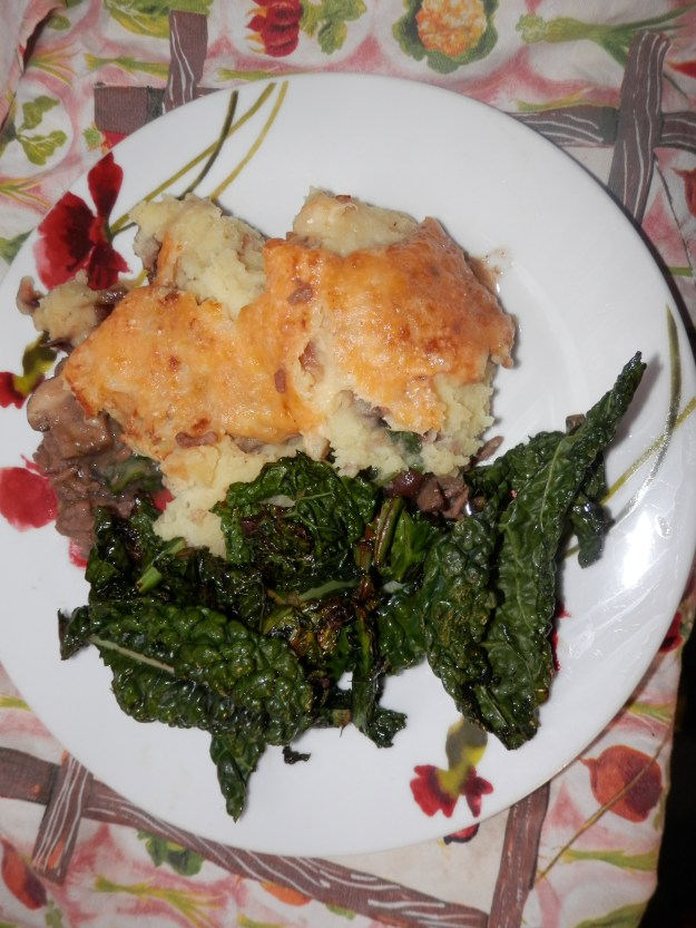 Cottage Pie and black kale