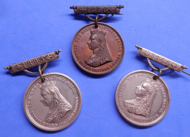 London School Attendance Medals 1890s