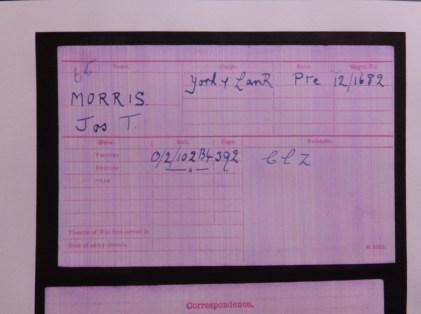 MIC Pte Morris Sheffield Pals