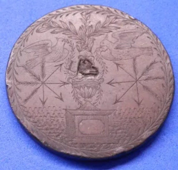 Engraved coin 1797