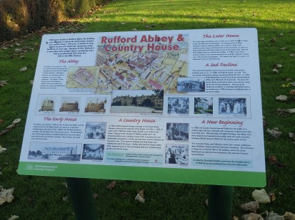 Rufford Abbey Info Board