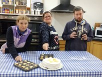 Quercus Community with cake and mince tarts