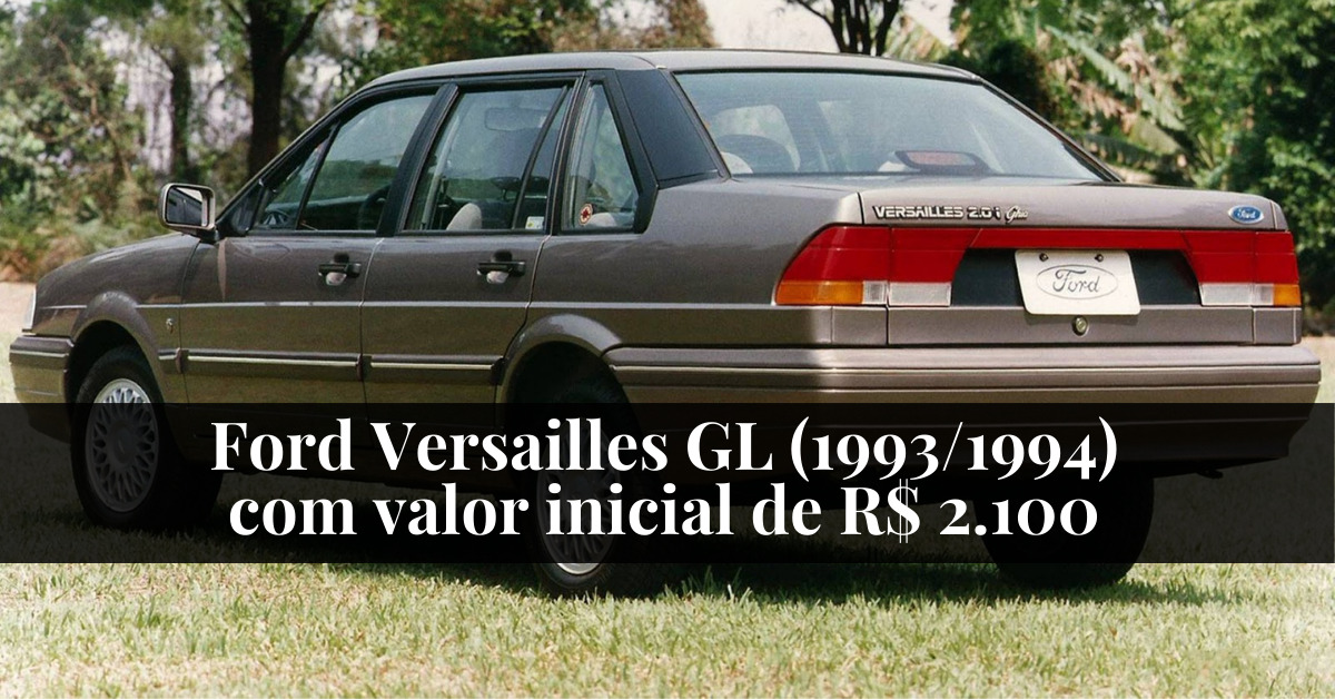 Ford Versailles GL (1993/1994) com valor inicial de R$ 2.100