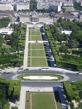 Chegamos a Paris - Champ de Mars vista da Torre Eiffel