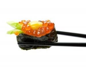 8875069-sushi-with-chopsticks-isolated-over-white-background