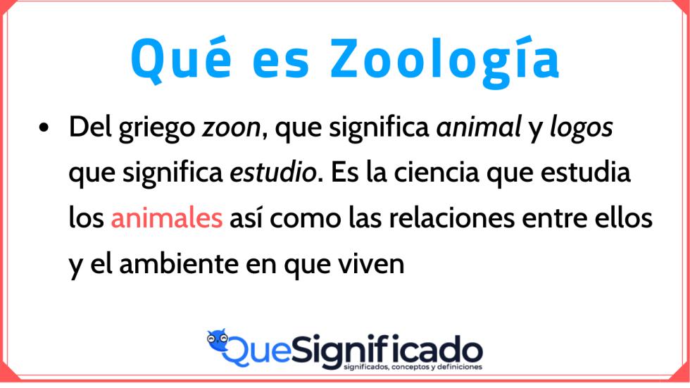 Significado y Definición y Concepto de Zoología