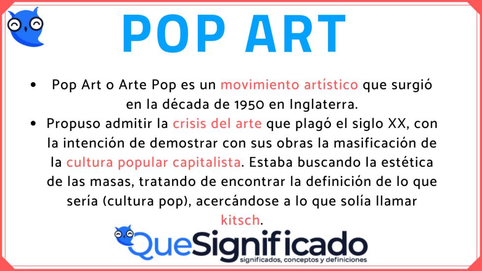 pop art que es, caracteristicas, artistas, traducción
