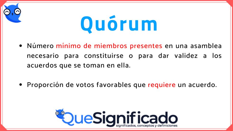 que-es-quorum-definicion