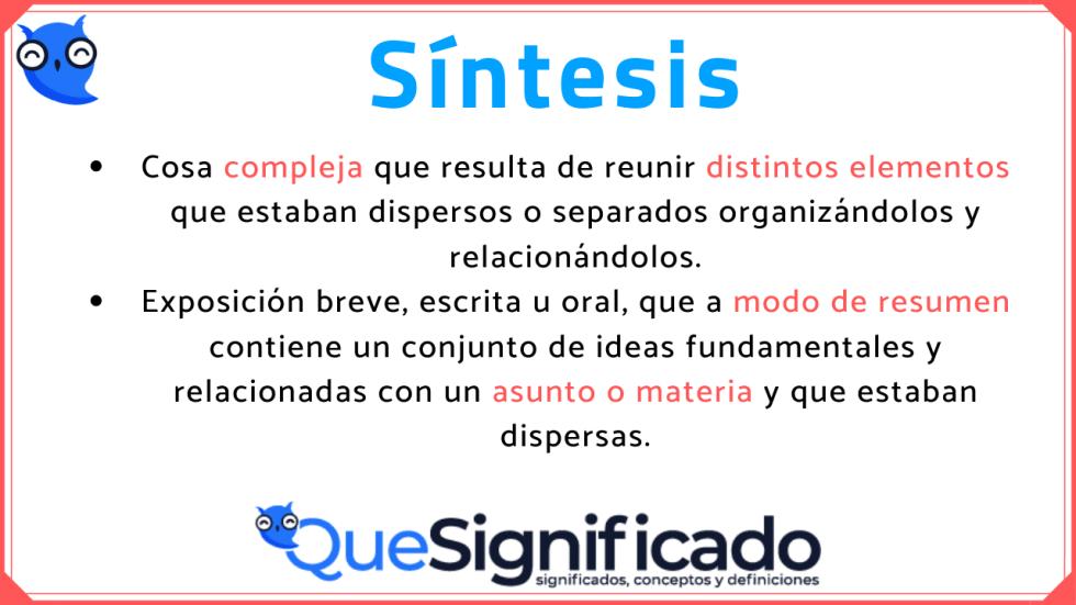 que-es-sintesis-significado-tipos-características