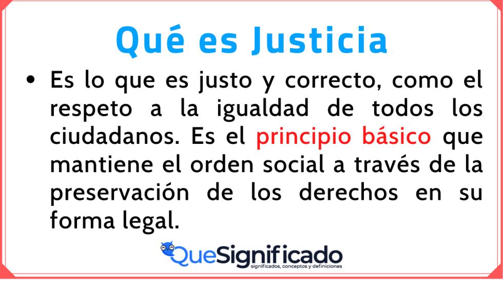 Significado Concepto Definición de Justicia