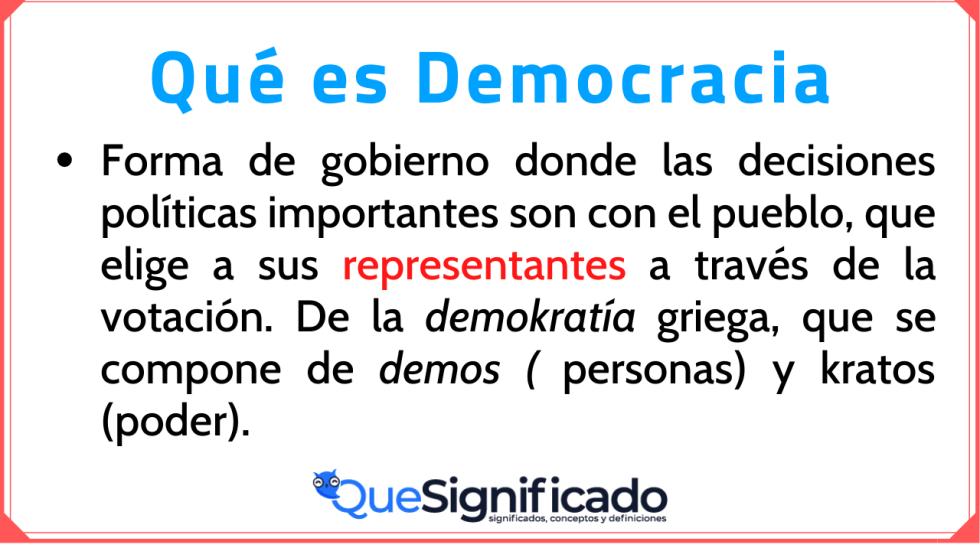 Significado Definicion y ejemplo de Democracia