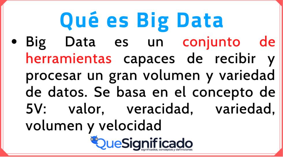 Big Data Significado Concepto Definición