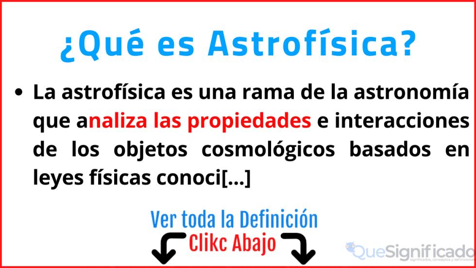 que es astrofísica significado ejemplos estudios