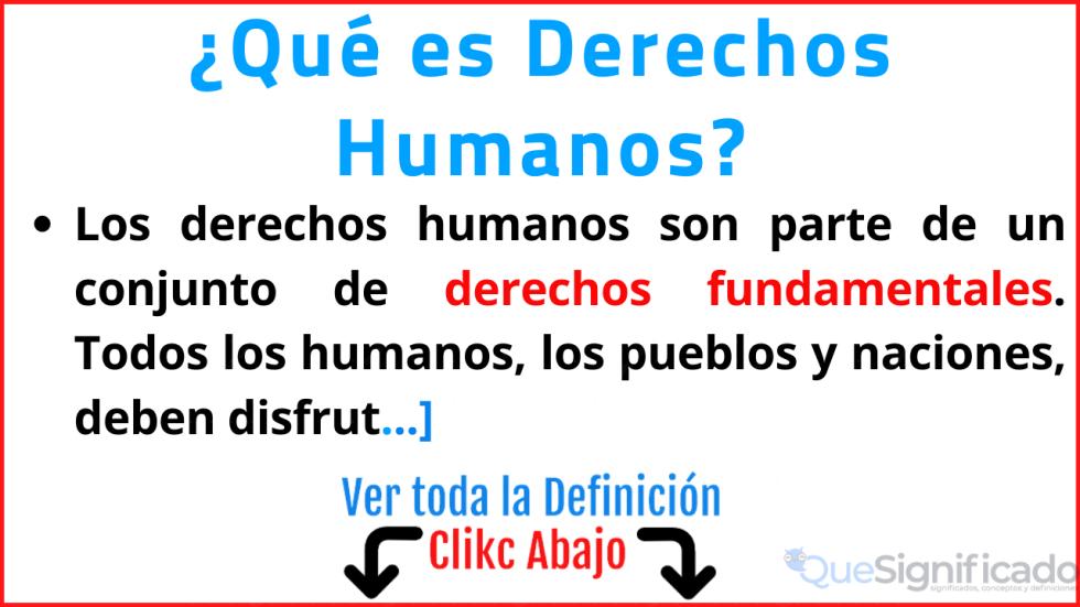 que es derechos humanos significado ejemplos