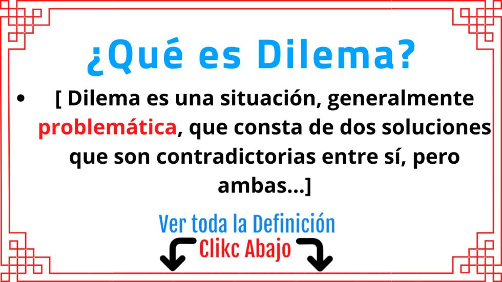que es dilema significado concepto definición