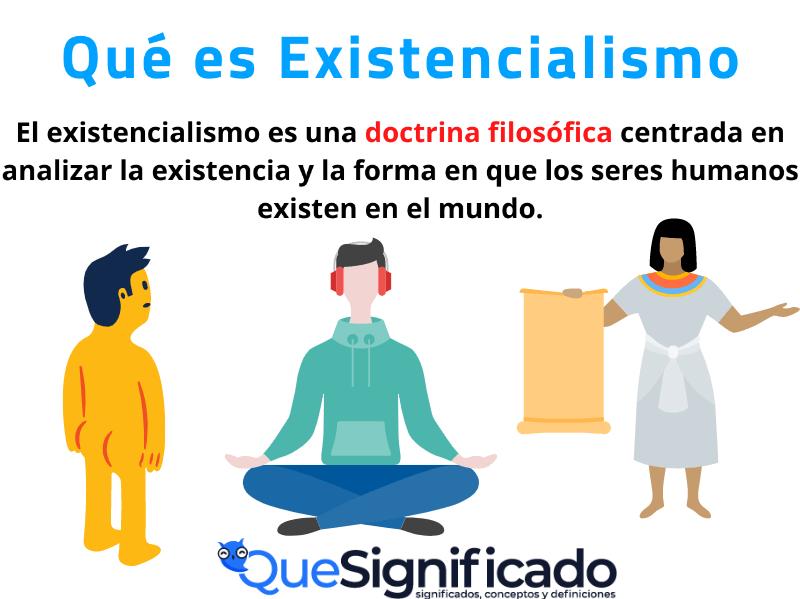 que es existencialismo significado concepto definición características
