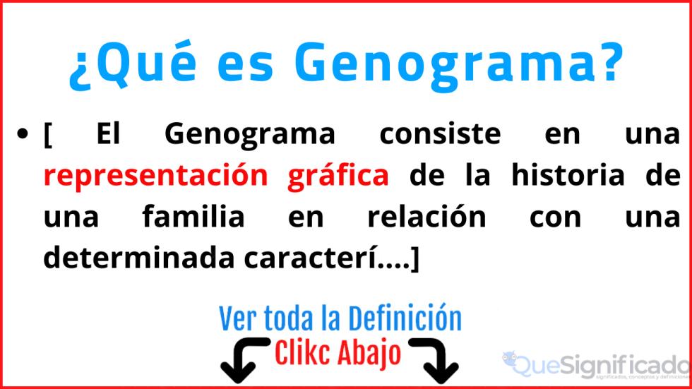 que es genograma significado concepto definicion