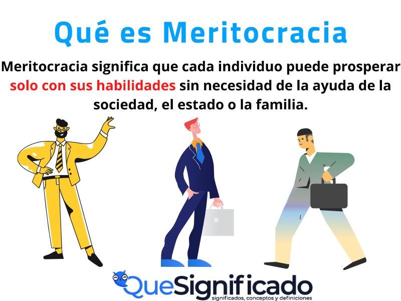 que es meritocracia significado concepto definición