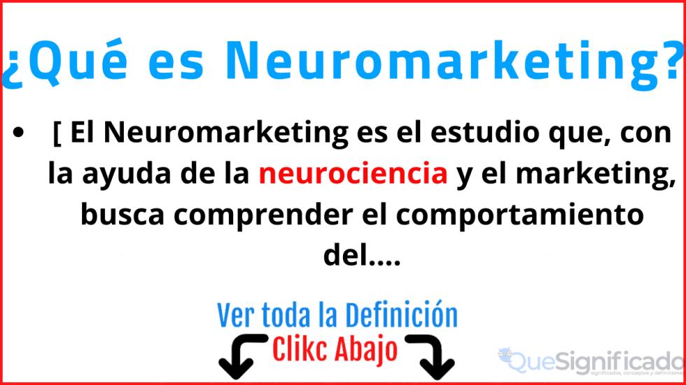 que es neuromarketing significado concepto definición