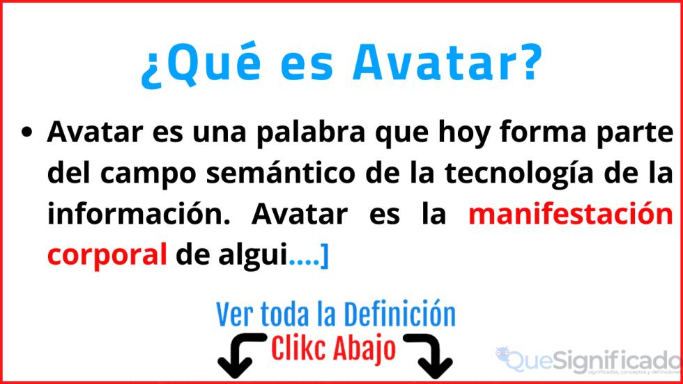 que es avatar significado concepto definicion ejemplos