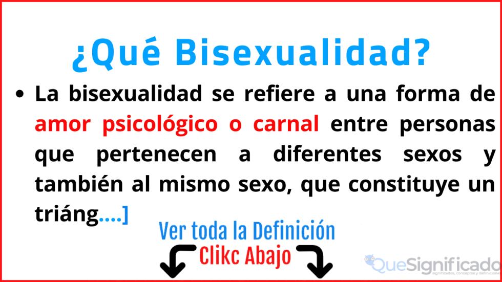 que es bisexualidad explicacion significado definicion
