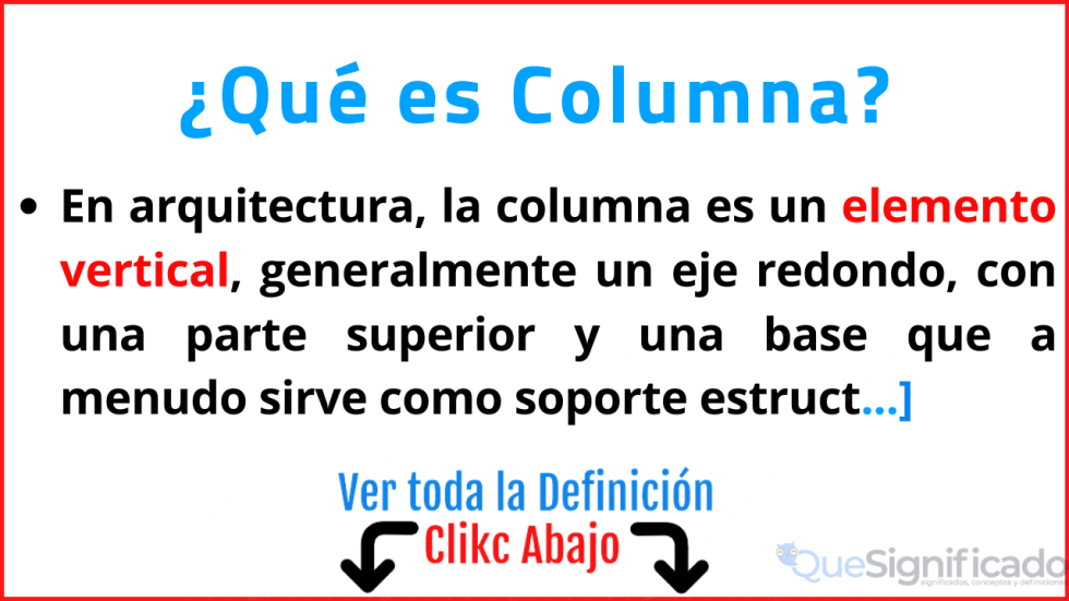 qué es columna significado definicion caracteristicas ejemplos