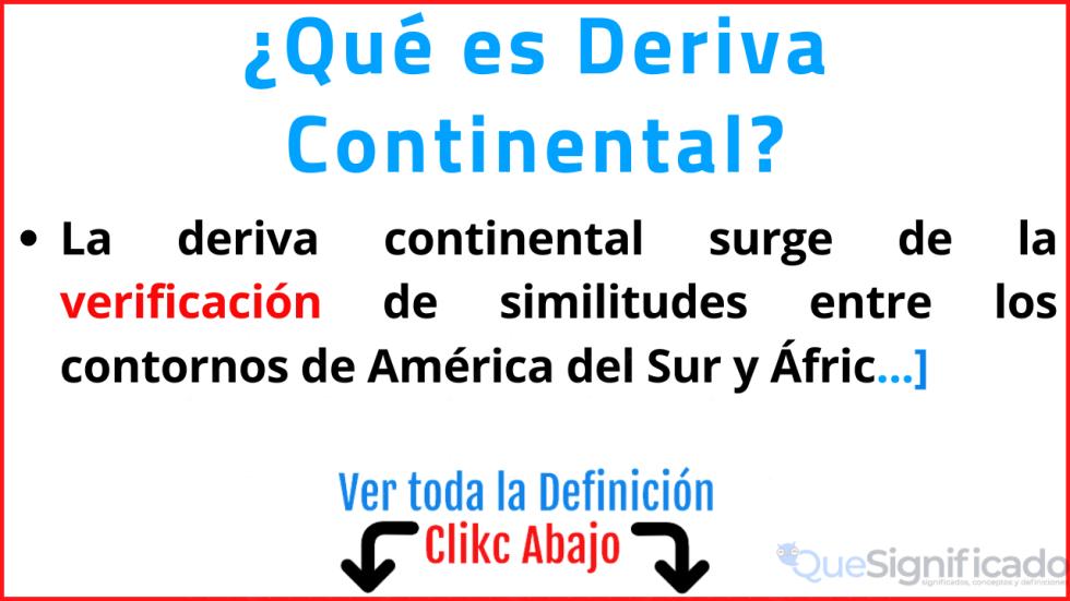 que es deriva continental significado definicion