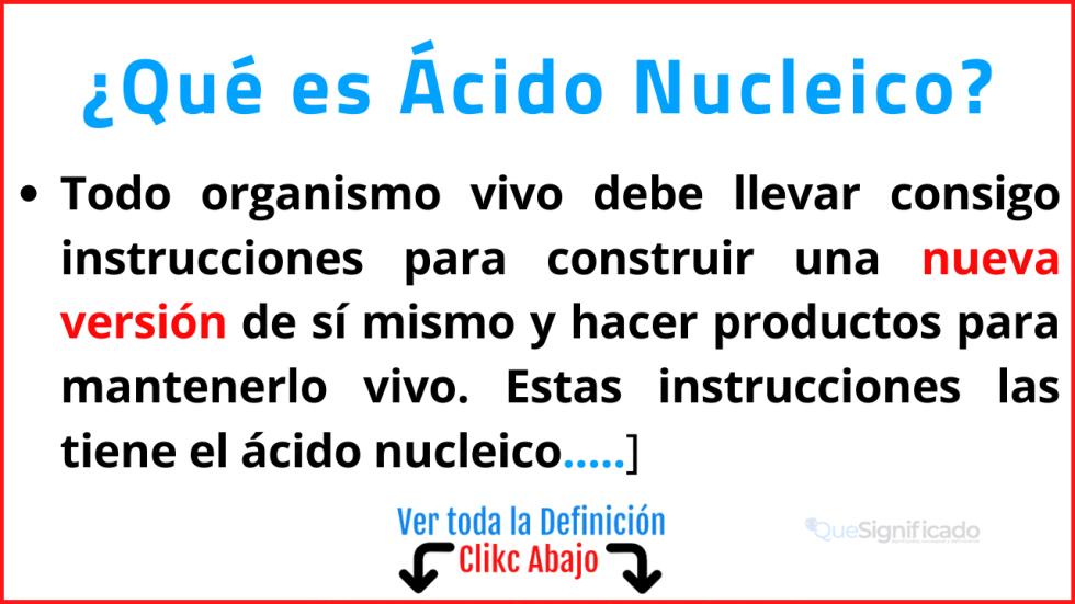 que es ácido nucleico