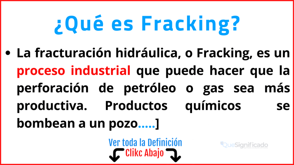 que es Fracking