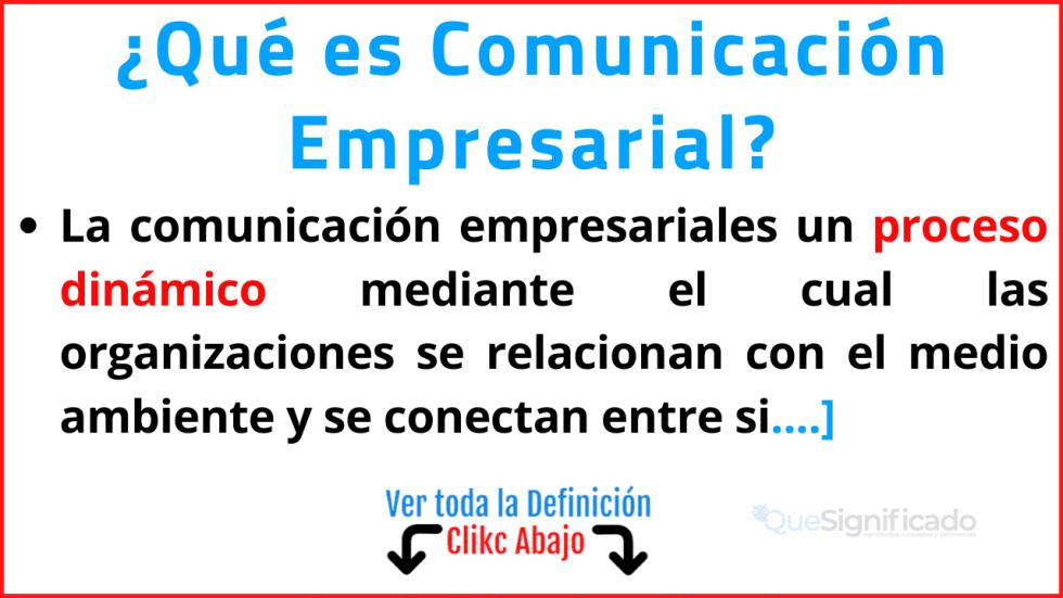 que es comunicación empresarial