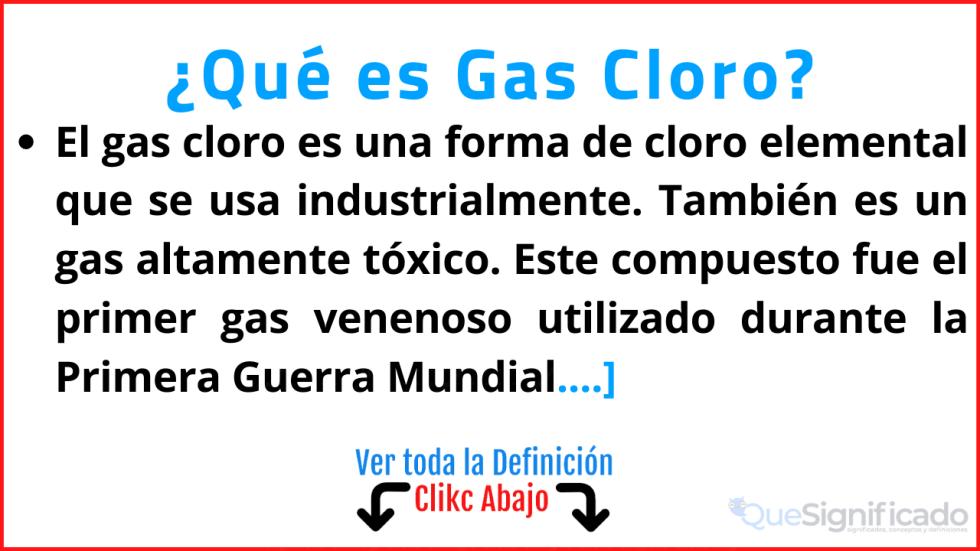 que es gas cloro significado características ejemplos